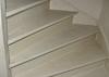 Sealing works on the meranti hardwood stair  (firm Robert v.d. Wetering)
