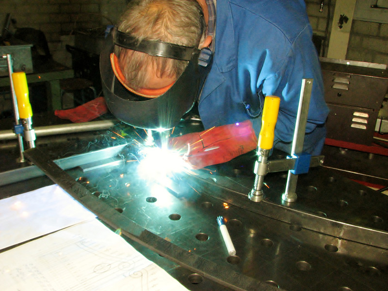 Wil is welding the gate parts