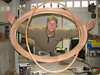 The mahogany oval window and glass slat, (Saskia's Christmas present are finished).