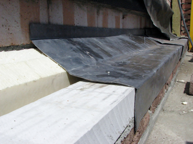 Insulation and sealing with sheets of lead (18 pound)