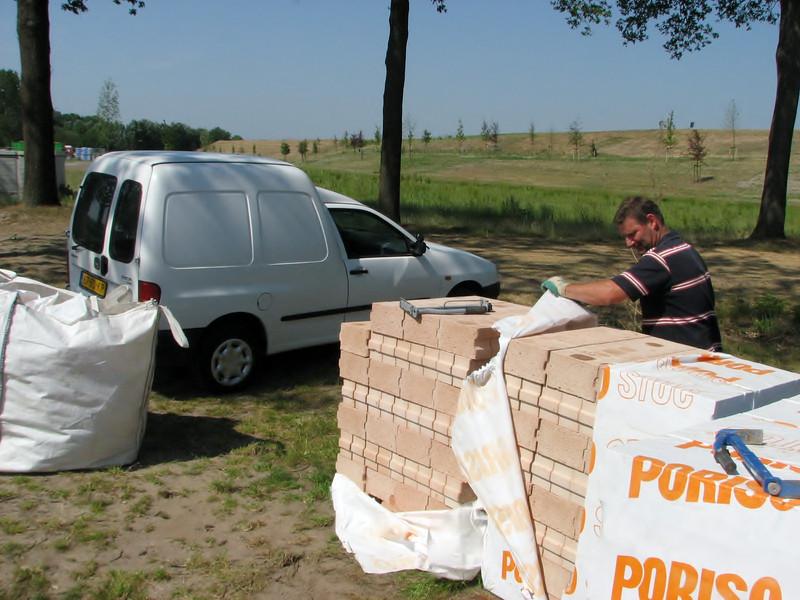 Transportation of Poriso bricks