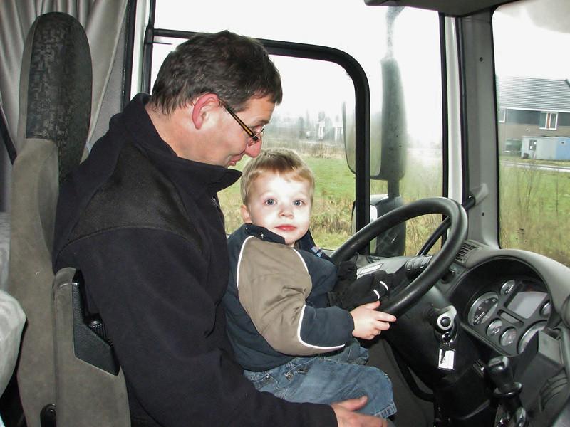 Jesse, the new driver of Frans Merks transport