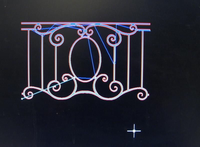 Rosato Computer Program ( DXF file) of balcony fence, part A