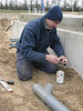 Installation of the sewer system by registered fitter Erick