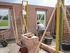 Bricklaying the rooms of the first floor