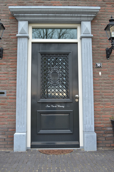 Nameplate, front door, Jufferlaan 36