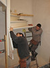 Team work, mounting the stair parts (firm v.d. Linden, Veghel)