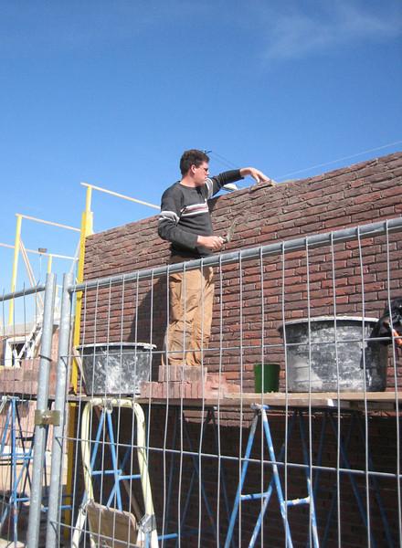 Finishing of bricklaying