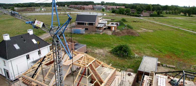 Crane view neighbourhood