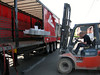 Loading of the door frame in Frans truck