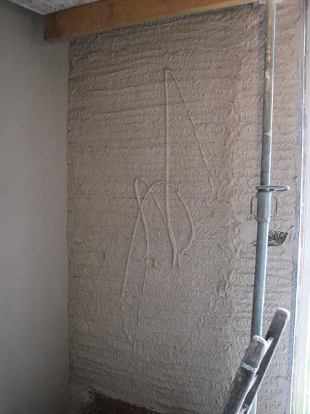 Plastering the hall