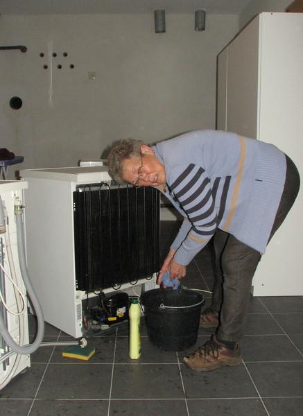 Cor van de Wetering is working in the technical room