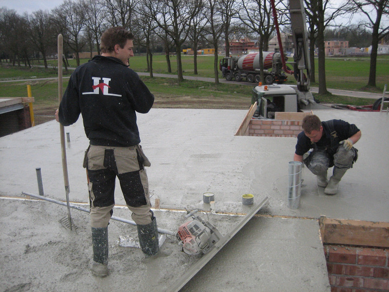 Finishing reinforced concrete of the first floor