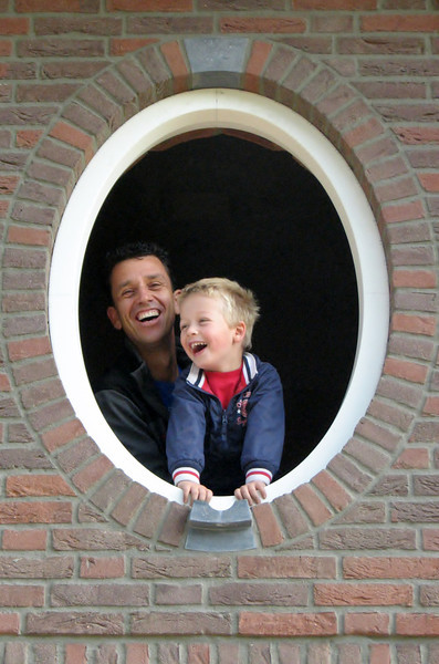 Robert and Stijn in a gilt frame