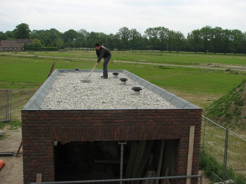 Robert dividing the gravel