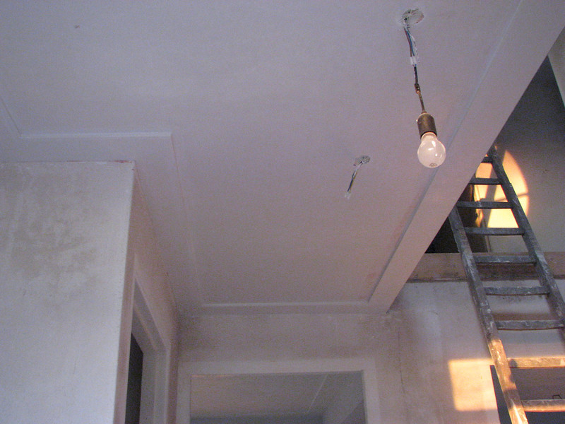 Plastered ceiling (hall)