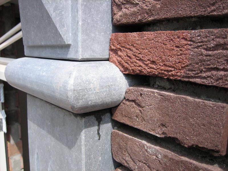 Brick grinding around door frame