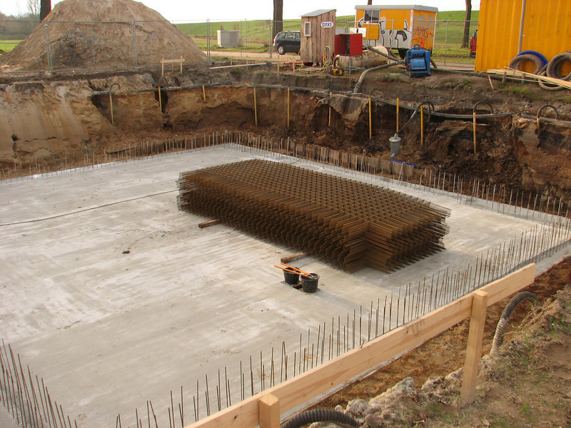 Store reinforcement of the main cellar-walls