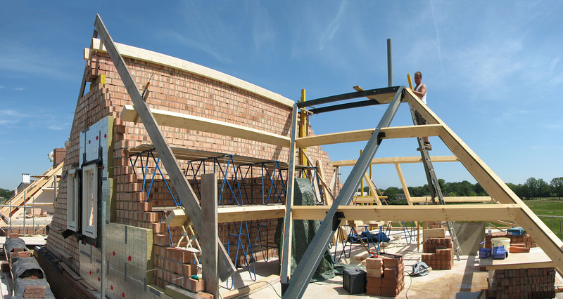 Mounting roof beams of Jufferlaan 36