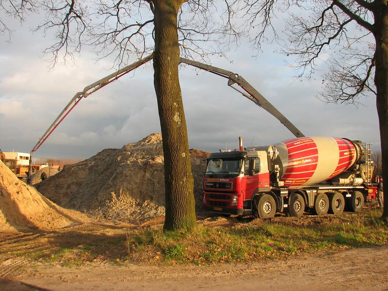 concrete- mixer and pump