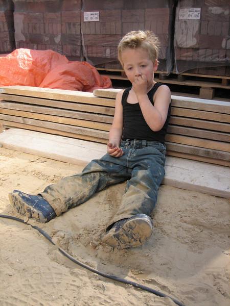Stijn in the play garden