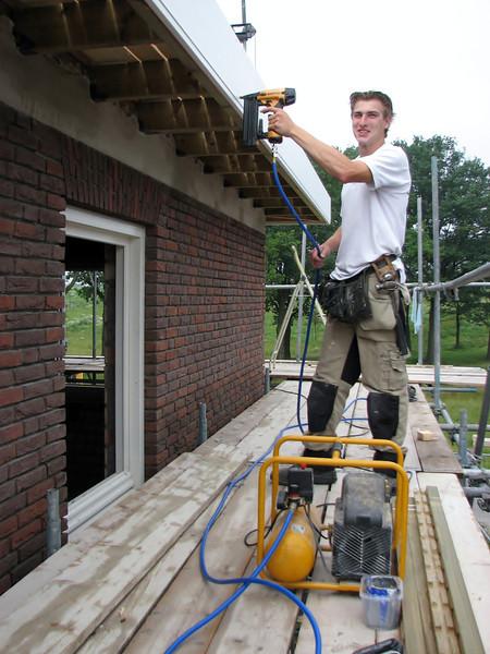 Stapling the gutter board