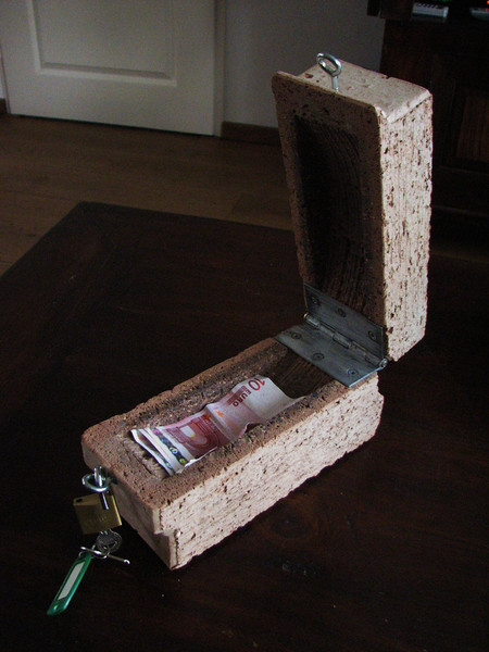 A filled brick, wedding present of Paul and Linda