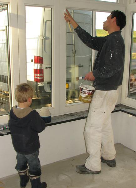 Robert is sealing the windows