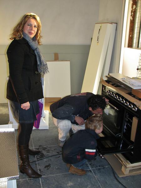 Stijn inspecting the new Boretti cooking facilities