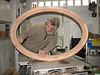 Production of a mahogany oval window