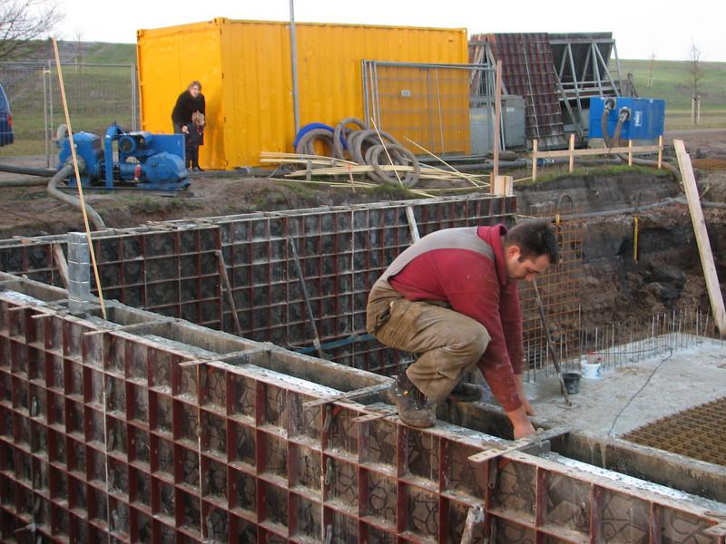 Pour concrete of the main cellar