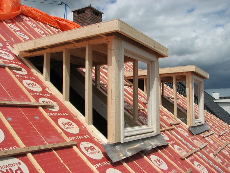 The roof of the dormer