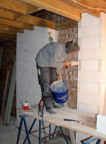 Pipes - shaft, bricklaying with YTONG