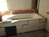 Bricklaying the bath