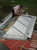 Jeroen folding zinc roof parts of the dormer (NL: felsen)