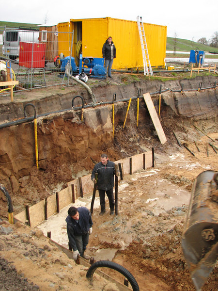 Well-point drainage (NL: bronbemaling)