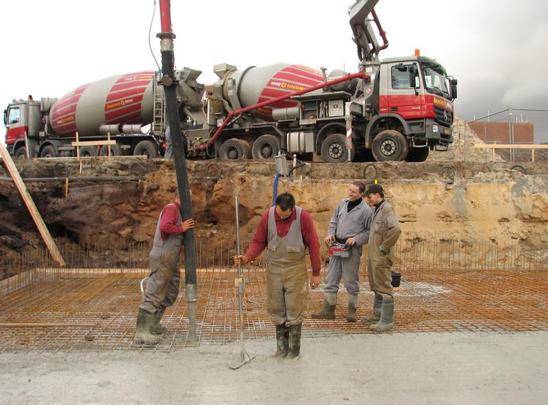 Pour concrete