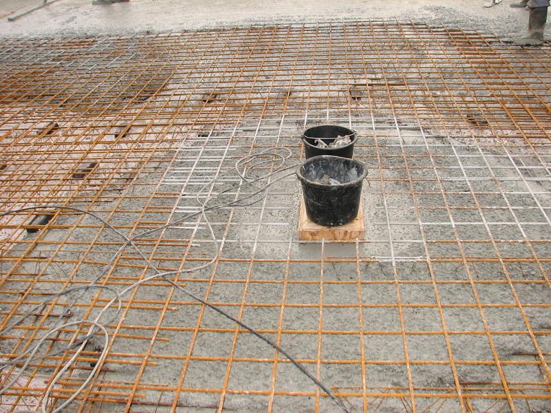 Shape a pump-room in reinforced concrete