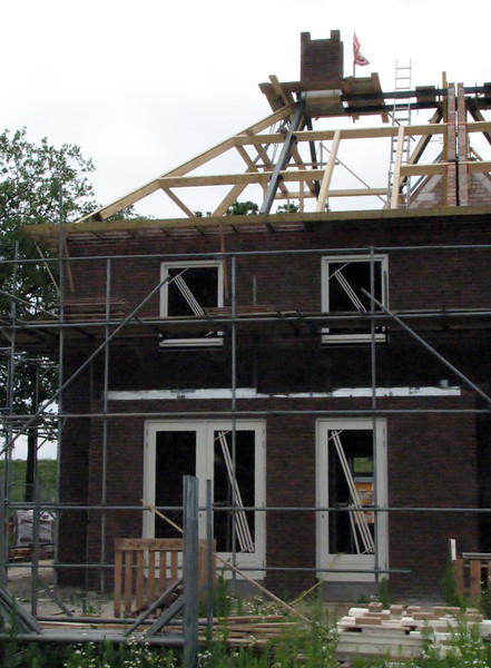 Scaffolding chimney Jufferlaan (2x)