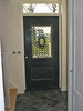 The preparatored front door before painting