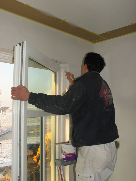 Robert painting his sleeping room