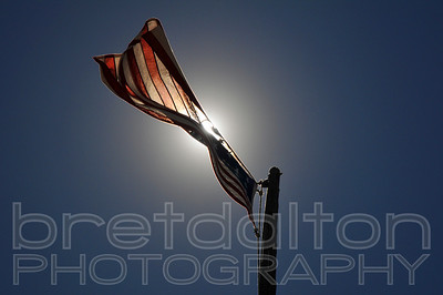 Civil war era flag at the Golden Spike National Historic Site, Utah