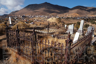 Virginia City, Nevada from the cemetery