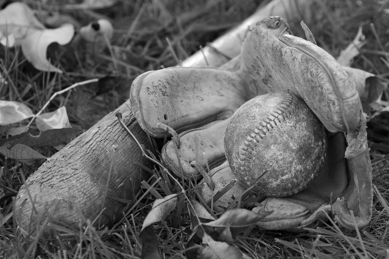 """Backyard Baseball"" - B&W<br /> Assignment: Used"