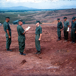 Promotion to Sgt. on Hill 55