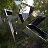 Strange reflective sculpture.