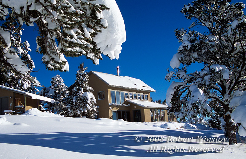 Property Released, Passive Solar House with Solar Panels for Hot Water, Durango, Colorado, Winter