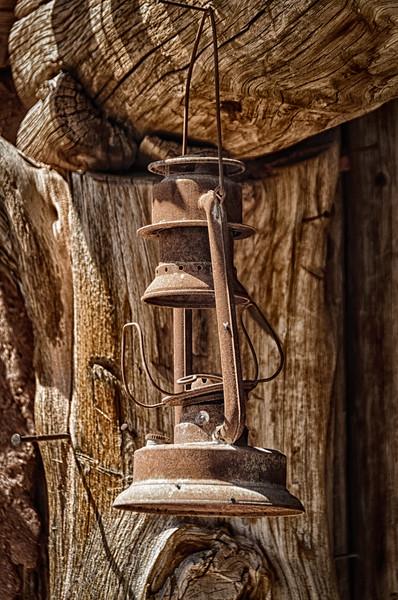 Rusty Oil Lamp, El Rancho de la Golondrinas, Los Pinos Road, Santa Fe, New Mexico