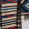 Woven Blankets in Weaving Room, El Rancho de la Golondrinas, Los Pinos Road, Santa Fe, New Mexico