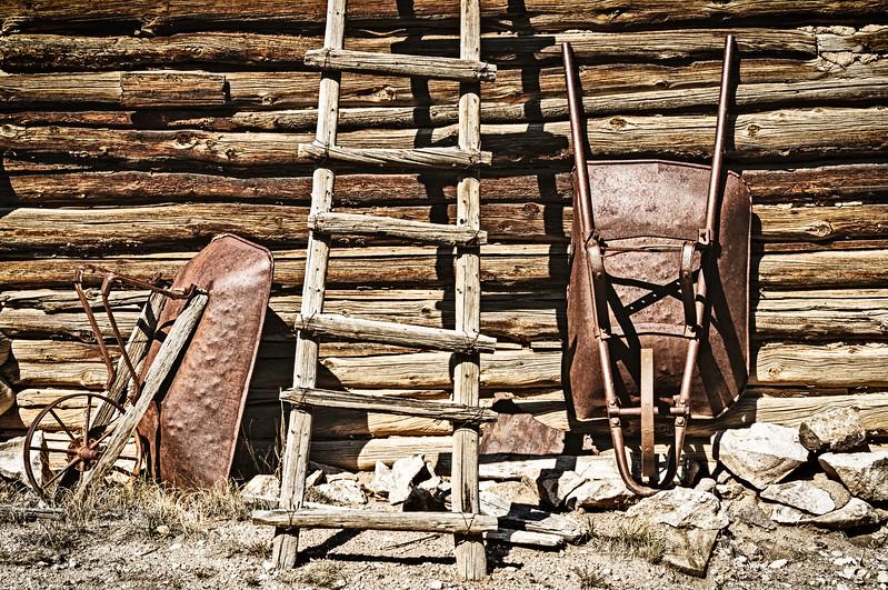 Wheelbarrows and Ladder, El Rancho de la Golondrinas, New Mexico